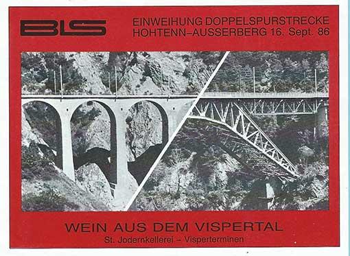 etiquette pont metallique