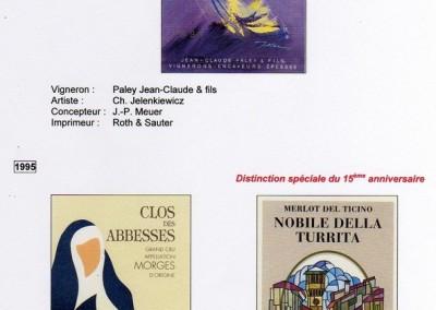 Coup de coeur 1994  -  1995